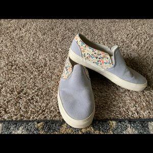 Vans Asher Stripe Floral Slip -on Sneakers